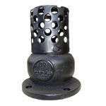 Клапаны обратные 16ч42р приемные фланцевые чугунные с фильтром Ру-2,5 кгс/см2