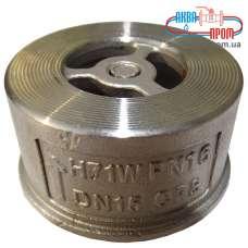 Клапан обратный межфланцевый дисковый Ду 100 из нержавеющей стали