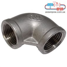 Угольник резьбовой Ду 10 ВВ из нержавеющей стали