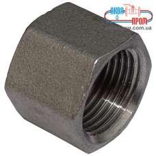 Заглушка Ду 10 внутренняя резьба из нержавеющей стали