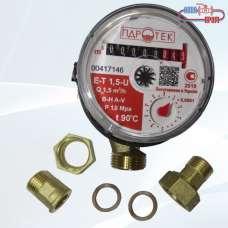 Счетчик горячей воды крыльчастый GIDROTEK E-T 1,5-U / Гидротек