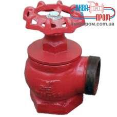 Кран (вентиль) пожарный угловой 90 градусов чугунный ПК 50 Ду 50 ВН